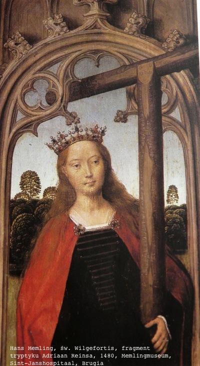 +++ 1480, Memlinc, paneelschildering BelgiÎ, Brugge, Memlincmuseum Wilgefortis