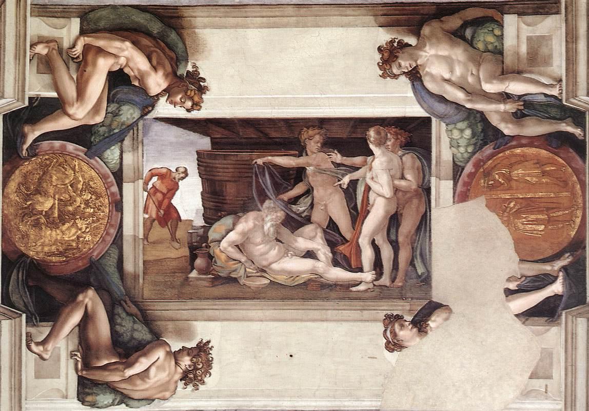 sistine-chapel-ceiling-drunkenness-of-noah-1509